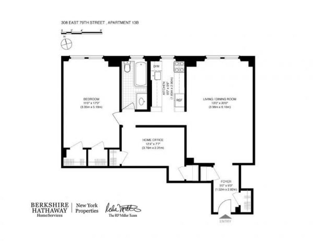 308 East 79th Street #13B floor plan