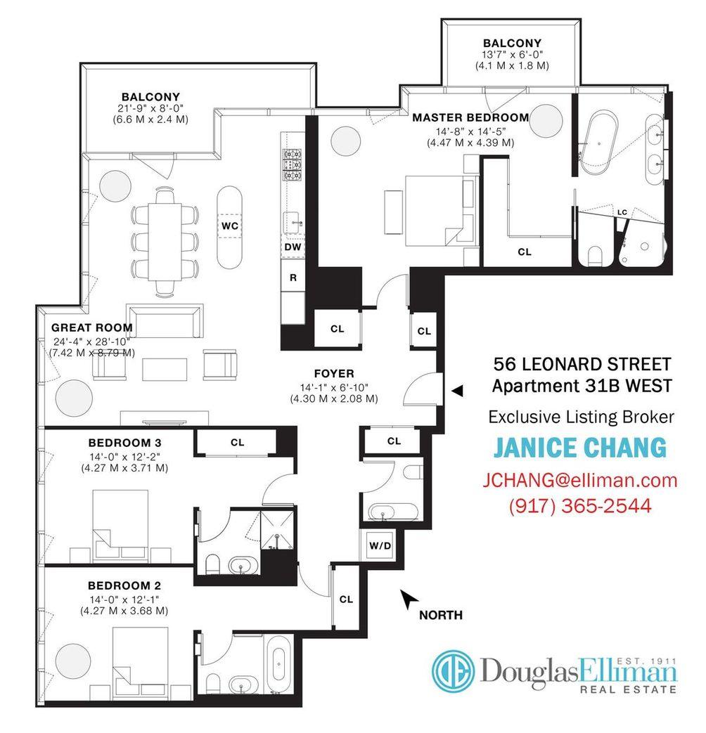 56 Leonard Street #31BW floor plan