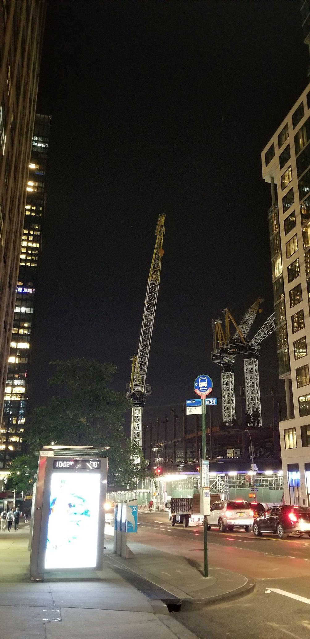 The Spiral, 35 Hudson Yards, Vitali Ogorodnikov, Hudson Yards, Hudson Boulevard, office, New York, skyline, skyscraper, construction, update, city, night, 34th Street