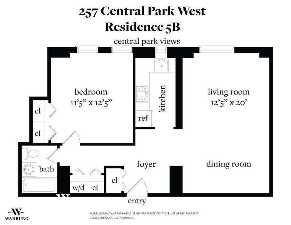 257 Central Park West #5B floor plan
