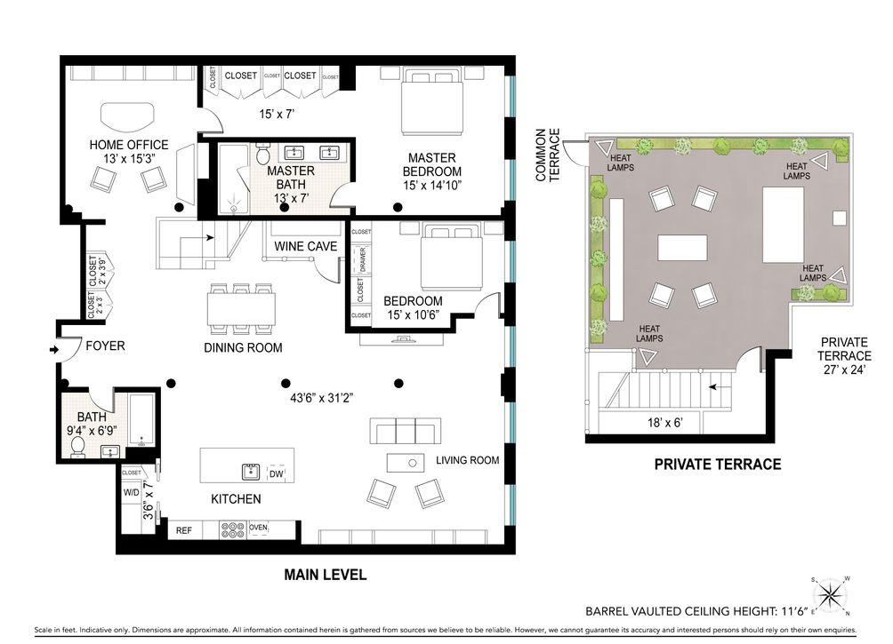 63 Greene Street #PHC floor plan-Joe-and-the-Juice