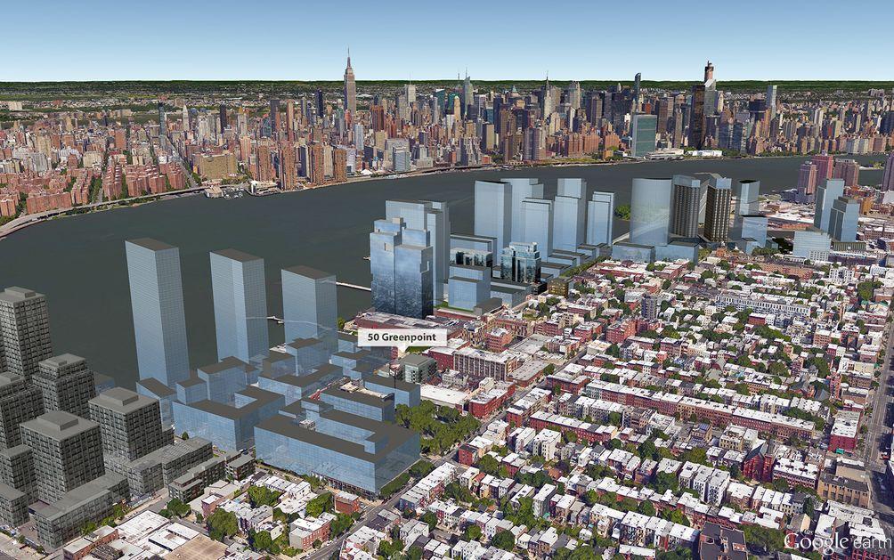 Brooklyn Skyline, 50 Greenpoint, NYC skyline