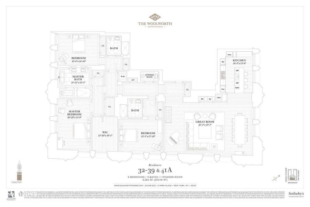 2 Park Place #39A floor plan
