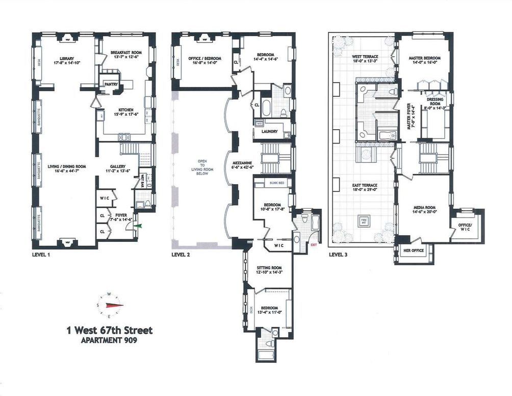 Hotel Des Artistes apartment #909 floor plan