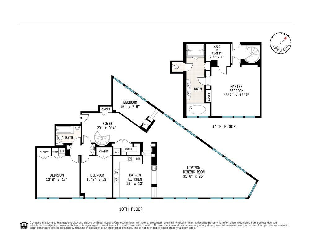 2 Cornelia Street #1002/1003 floor plan
