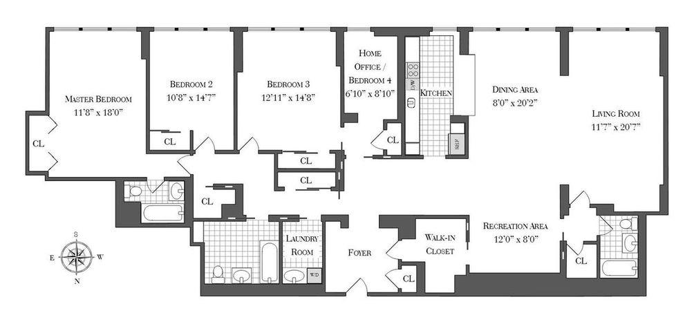 420 East 51st Street #8DE floor plan