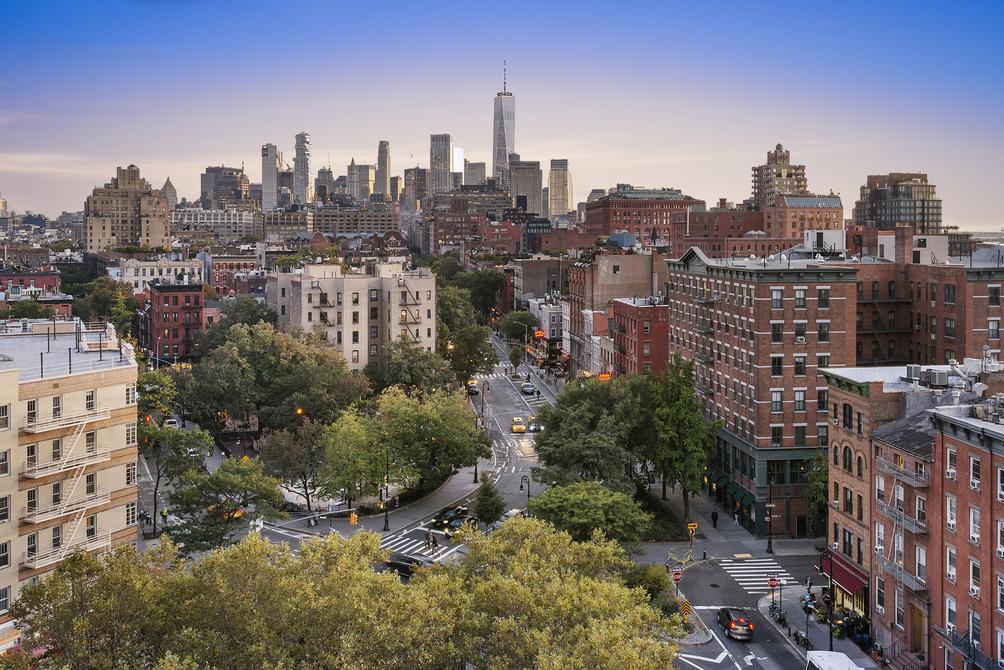 West Village NYC skyline