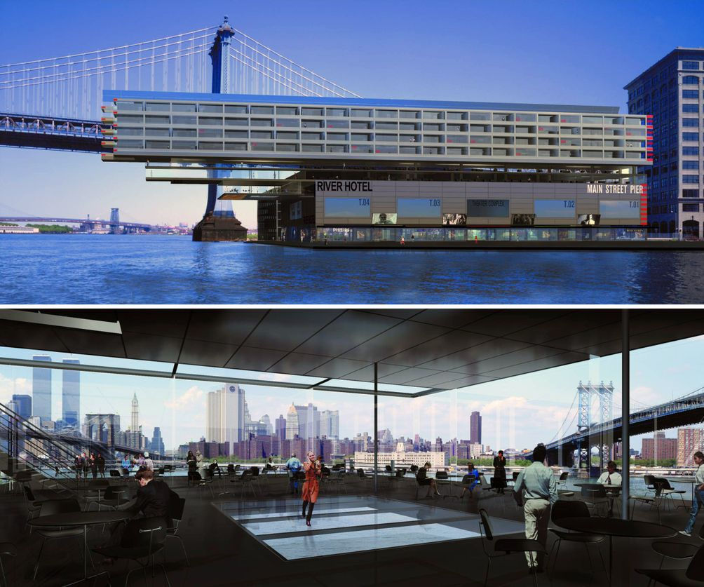 a look back at jean nouvel s cantilevering river hotel in dumbo