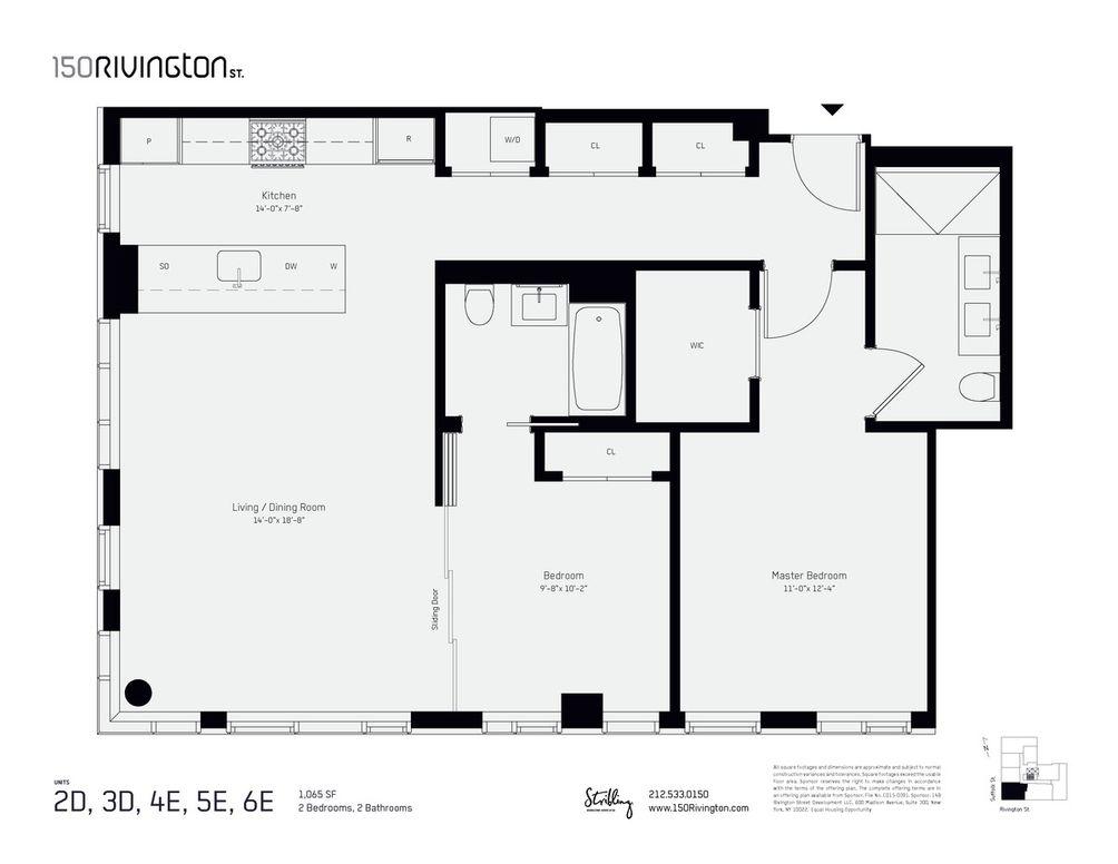 150 Rivington #4E floor plan