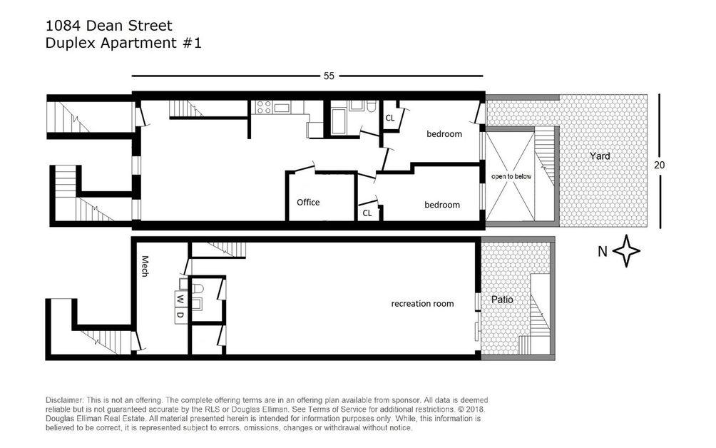 1084 Dean Street #1 floor plan