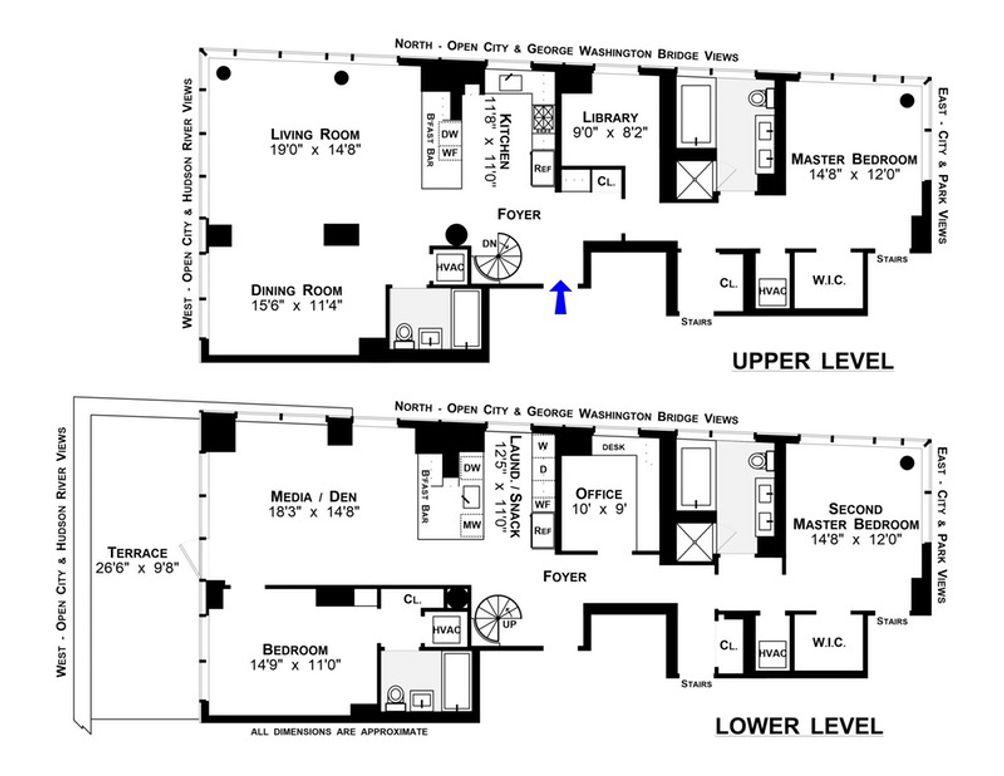2628 Broadway #23/22A floor plan