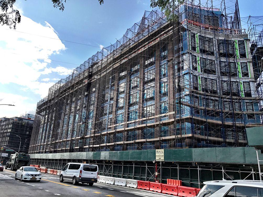 810 Fulton Street in Brooklyn under construction