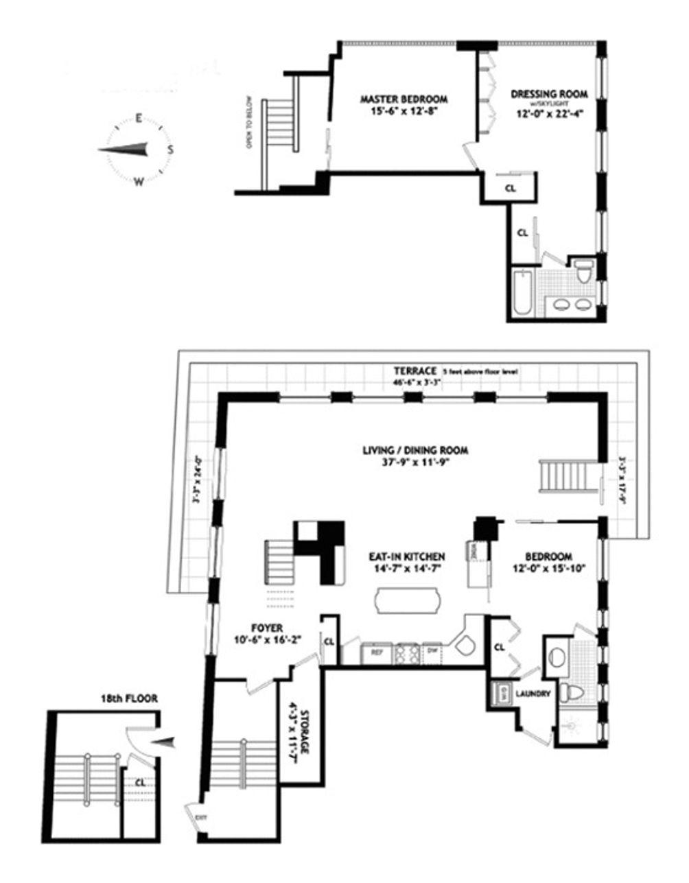 26 Beaver Street #PH floor plan