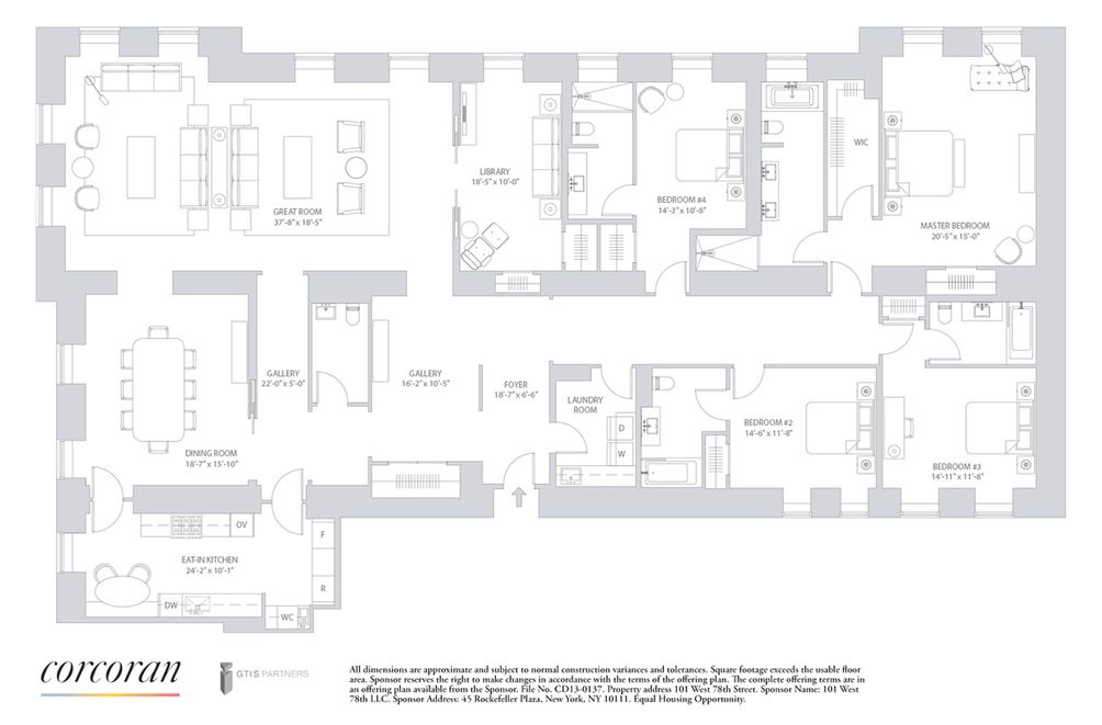 101 West 78th Street #4A floor plan