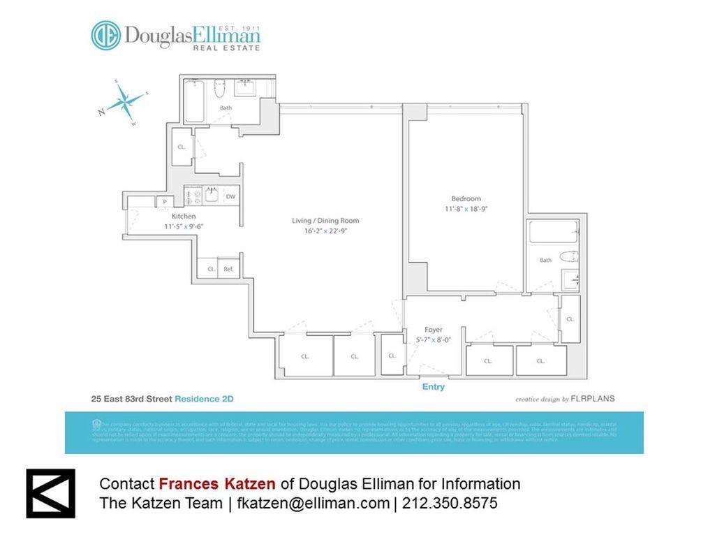 25 East 83rd Street #2D floor plan