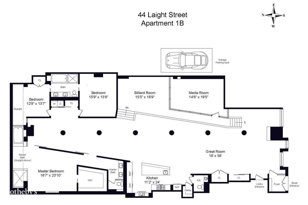 44 Laight Street #1B floor plan