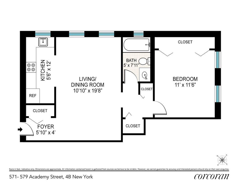 571 Academy Street #4B floor plan