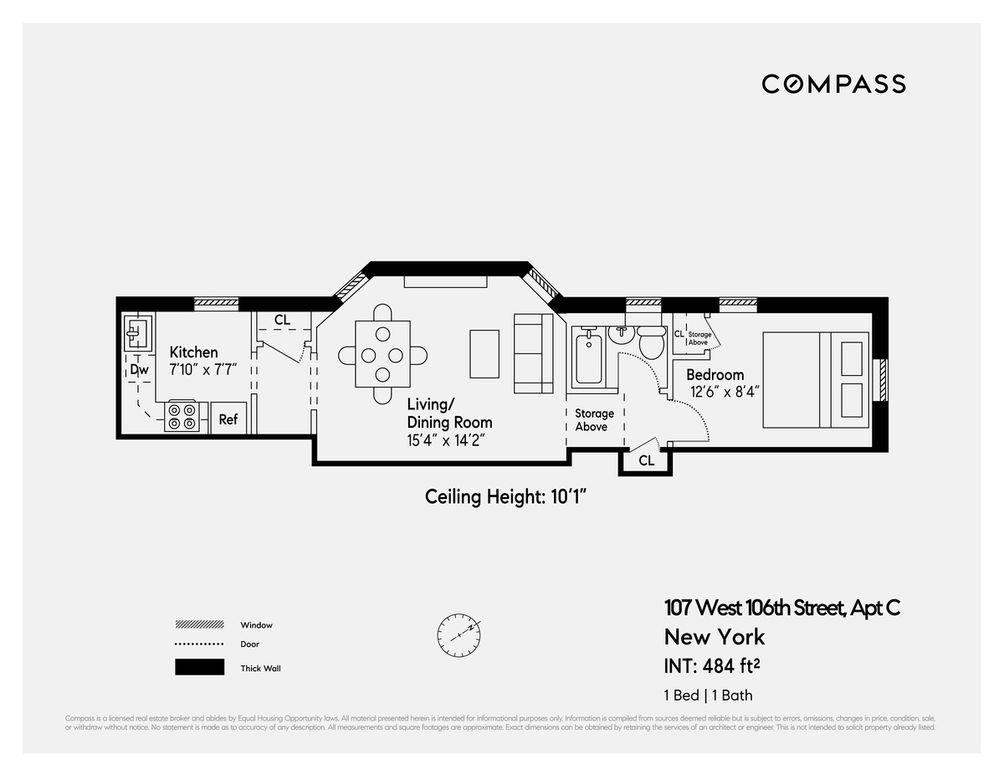 107 West 106th Street #C floor plan