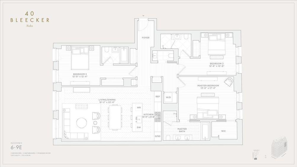 40 Bleecker Street #6E floor plan
