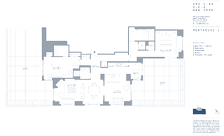 389 East 89th Street #PH1 floor plan
