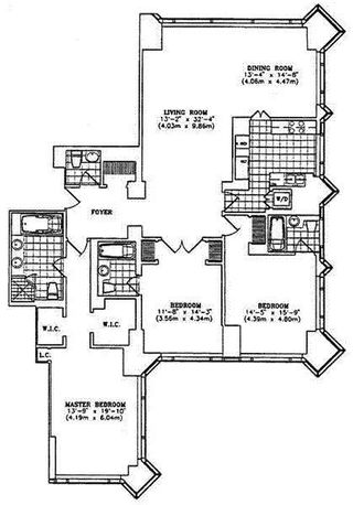 1 Central Park West floor plan