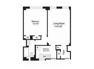 142 East 49th Street #7B floor plan