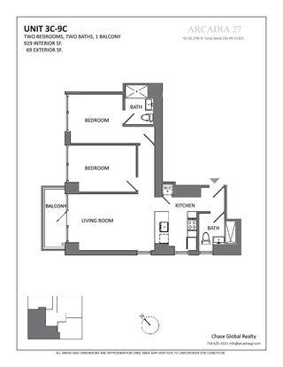 42-50 27th Street two-bedroom floor plan