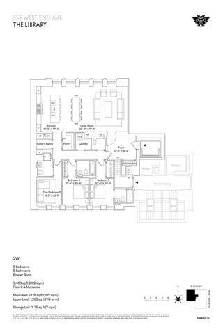 555 West End Avenue The Library floor plan