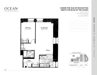1 West Street #2316 floor plan