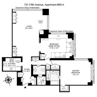 721 Fifth Avenue #59A floor plan