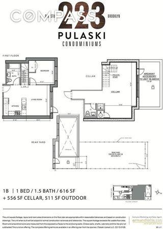 223 Pulaski Street #1B floor plan