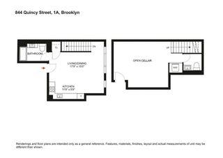 844 Quincy Street #1A floor plan