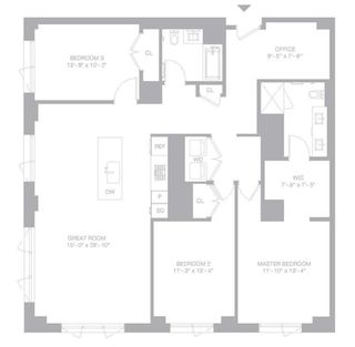 509 Pacific Street #3B floor plan