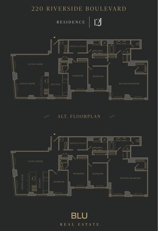 220 Riverside Boulevard #12J floor plan