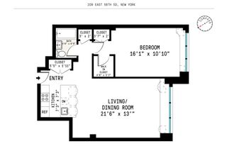 209 East 56th Street #5D floor plan