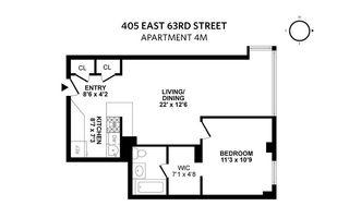 405 East 63rd Street #4M floor plan