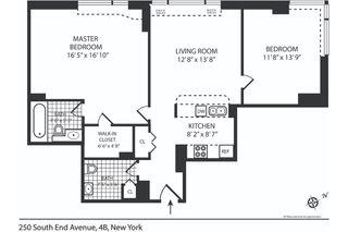 250 South End Avenue #4B floor plan