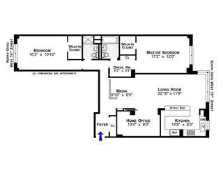11 Riverside Drive #8SW floor plan