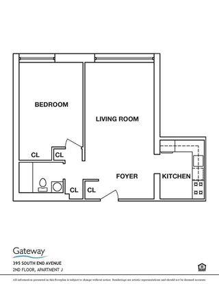 394-395 South End Avenue #2J floor plan