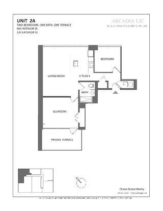 24-12 42nd Road two-bedroom floor plan