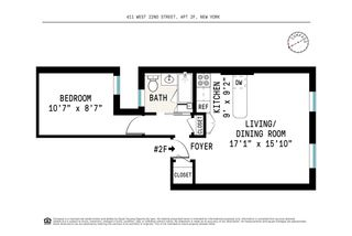 411 West 22nd Street #2F floor plan