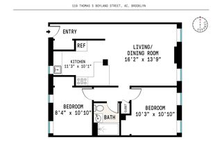 117 Thomas S. Boyland Street #4C floor plan