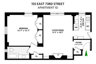 155 East 73rd Street #1D floor plan