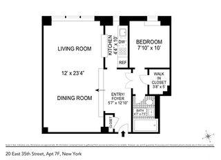 20 East 35th Street #7F floor plan
