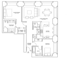 432 Park Avenue penthouse floor plan