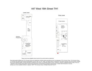 447 West 18th Street #TH floor plan