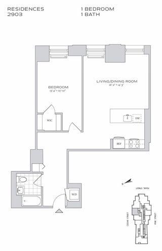 70 Pine Street #2903 floor plan