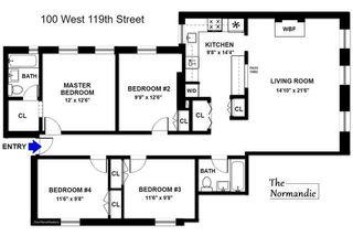 100 West 119th Street #3D floor plan