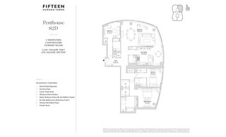 15 Hudson Yards #PH82D floor plan