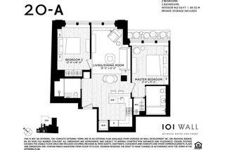 101 Wall Street #20A floor plan